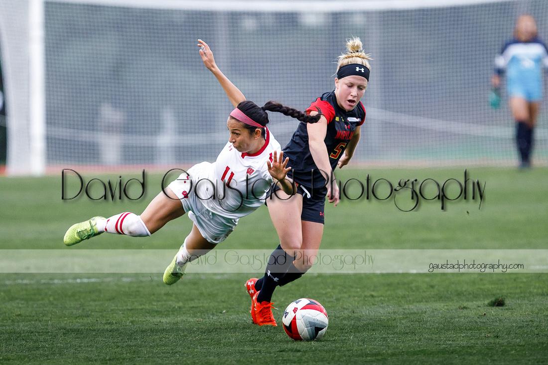Victoria Pickett Wisconsin Badgers Women's Soccer vs Maryland Women's Soccer 2018
