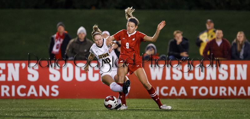 Lauren Rice Wisconsin Badgers Women's Soccer vs Iowa Big Ten NCAA