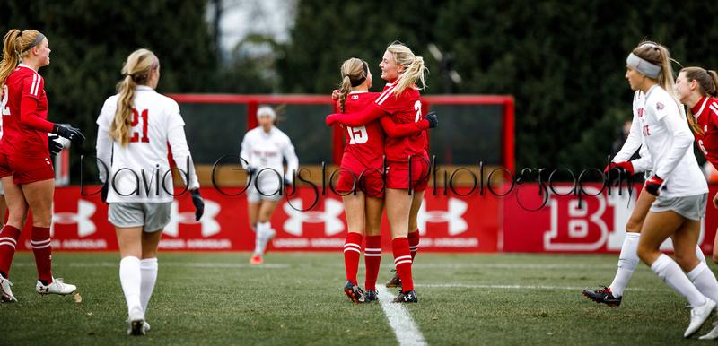 Cammie Murtha and Dani Rhodes University of Wisconsin Badgers Women's Soccer vs. Ohio State