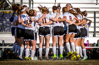 DeForest Girls Varsity Soccer team getting fired up in the Spring 2015 season