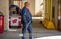 Barry Alvarez at the American Family Insurance gate dedication and tour of Camp Randall