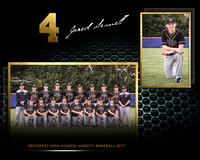 Jared - 8x10 Horizontal DeForest Baseball