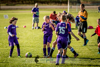 Photos from the DeForest Norski and Sauk Prairie Tornadoes U13 girls soccer game on September 19 2015 at Linde field DeForest